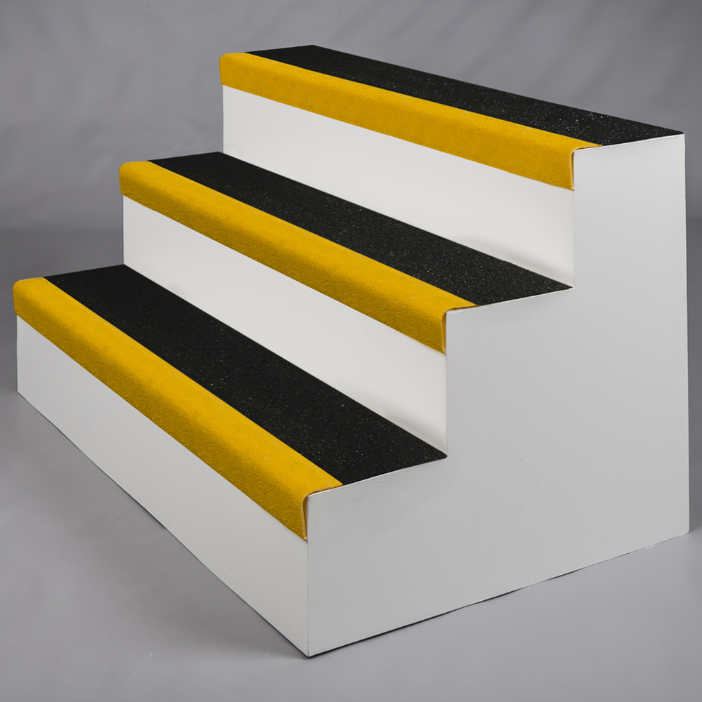 SlipGrip Stair Treads Standard, 3020x345mm, Ral 5019 Yellow Nose